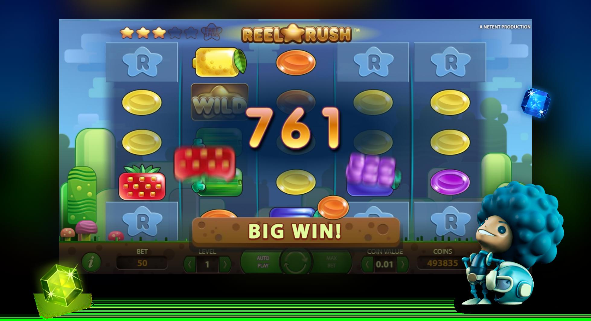 Big Win video slot Reel Rush